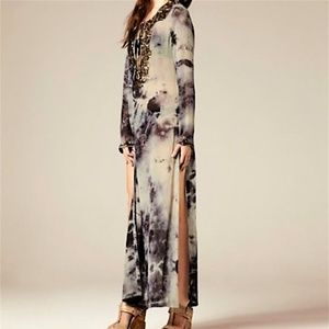 All Saints spitalfields zohra kaftan maxi dress 10